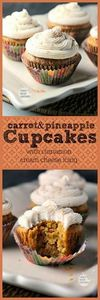 Delicious, moist carrot cake type  - 280 Cupcake Recipes - RecipePin.com