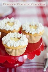 Pineapple Cinnamon Cupcakes | Thes - 280 Cupcake Recipes - RecipePin.com