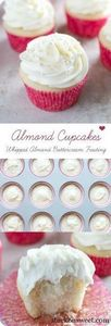 Almond Cupcakes with Whipped Almon - 280 Cupcake Recipes - RecipePin.com