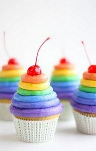 Sprinkle Bakes: Rainbow Frosting C - 280 Cupcake Recipes - RecipePin.com