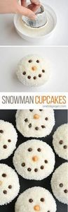 These easy snowman cupcakes would  - 280 Cupcake Recipes - RecipePin.com
