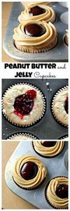 Peanut Butter and Jelly Cupcakes w - 280 Cupcake Recipes - RecipePin.com