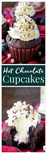 These Hot Chocolate Cupcakes are m - 280 Cupcake Recipes - RecipePin.com