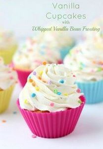 Vanilla Cupcakes with Whipped Vani - 280 Cupcake Recipes - RecipePin.com