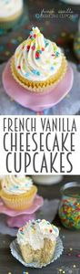 How about French Vanilla Cheesecak - 280 Cupcake Recipes - RecipePin.com