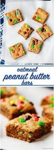 Oatmeal Peanut Butter Bars - Soft  - 240 Desserts with Peanut Butter Or Nut Butter - RecipePin.com