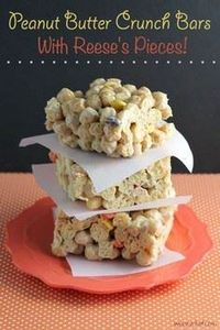 These easy cereal bars made with P - 240 Desserts with Peanut Butter Or Nut Butter - RecipePin.com