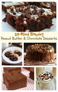 20 Mind-Blowing Peanut Butter and  - 240 Desserts with Peanut Butter Or Nut Butter - RecipePin.com