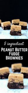 Peanut Butter Fudge Brownies - the - 240 Desserts with Peanut Butter Or Nut Butter - RecipePin.com
