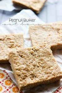 Peanut Butter Oat Bars - 240 Desserts with Peanut Butter Or Nut Butter - RecipePin.com