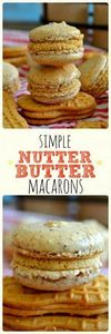 These Nutter Butter Macarons combi - 240 Desserts with Peanut Butter Or Nut Butter - RecipePin.com