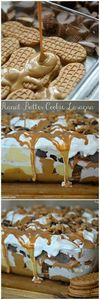 peanut butter cookie lasagna - 240 Desserts with Peanut Butter Or Nut Butter - RecipePin.com