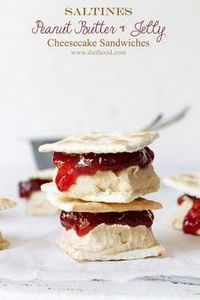 Saltines Peanut Butter and Jelly C - 240 Desserts with Peanut Butter Or Nut Butter - RecipePin.com