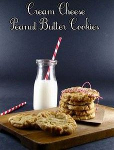 Cream Cheese Peanut Butter Cookies - 240 Desserts with Peanut Butter Or Nut Butter - RecipePin.com