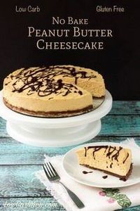 gluten free low carb no bake peanu - 240 Desserts with Peanut Butter Or Nut Butter - RecipePin.com