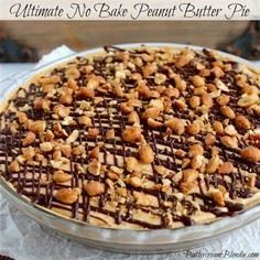 Ultimate No Bake Peanut Butter Pie - 240 Desserts with Peanut Butter Or Nut Butter - RecipePin.com