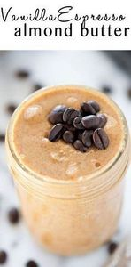 Vanilla Espresso Almond Butter is  - 240 Desserts with Peanut Butter Or Nut Butter - RecipePin.com