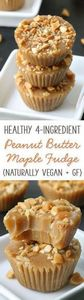 This healthier 4-ingredient maple  - 240 Desserts with Peanut Butter Or Nut Butter - RecipePin.com