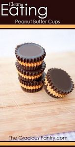 Peanut Butter Cups #CleanEating - 240 Desserts with Peanut Butter Or Nut Butter - RecipePin.com