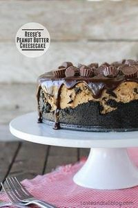 Reese's Peanut Butter Cheesecake | - 240 Desserts with Peanut Butter Or Nut Butter - RecipePin.com