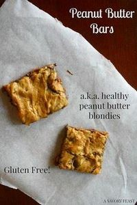 Peanut Butter Bars (a.k.a. healthy - 240 Desserts with Peanut Butter Or Nut Butter - RecipePin.com