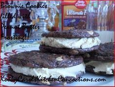 Brownie cookies filled with peanut - 240 Desserts with Peanut Butter Or Nut Butter - RecipePin.com