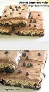 Peanut Butter Brownies with Whippe - 240 Desserts with Peanut Butter Or Nut Butter - RecipePin.com