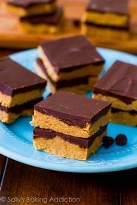 No-Bake Reese's Peanut Butter Bars - 240 Desserts with Peanut Butter Or Nut Butter - RecipePin.com