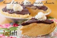 Peanut Butter Pie With Chocolate G - 240 Desserts with Peanut Butter Or Nut Butter - RecipePin.com