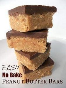 Easy No Bake Peanut Butter Bars Re - 240 Desserts with Peanut Butter Or Nut Butter - RecipePin.com