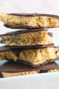 Chocolate Peanut Butter Squares - 240 Desserts with Peanut Butter Or Nut Butter - RecipePin.com