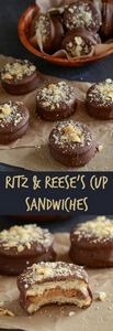 Ritz Reese's Cup Sandwiches coated - 240 Desserts with Peanut Butter Or Nut Butter - RecipePin.com