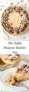 No-bake Peanut Butter Pie with Pre - 240 Desserts with Peanut Butter Or Nut Butter - RecipePin.com