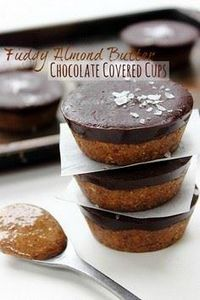 Almond Butter Cups - 240 Desserts with Peanut Butter Or Nut Butter - RecipePin.com