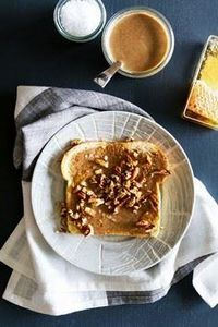 Roasted Pecan Butter Toast - 240 Desserts with Peanut Butter Or Nut Butter - RecipePin.com