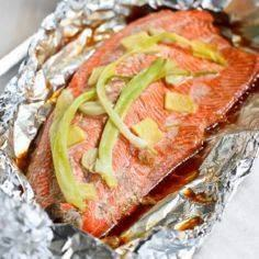 Salmon with Ginger and Soy Sauce | - 275 Fish Recipes - RecipePin.com