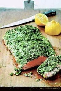 roasted salmon with green herbs. - 275 Fish Recipes - RecipePin.com