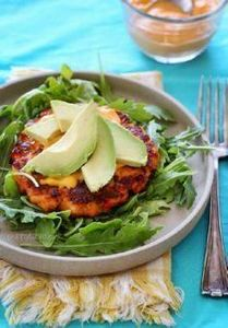 These salmon burgers are loaded wi - 275 Fish Recipes - RecipePin.com