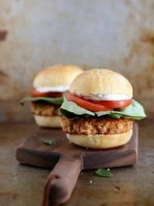Salmon Cake Sliders from completel - 275 Fish Recipes - RecipePin.com