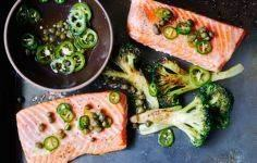 Roasted Salmon and Broccoli with C - 275 Fish Recipes - RecipePin.com