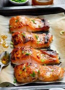 Clean Eating Baked Thai Salmon Rec - 275 Fish Recipes - RecipePin.com