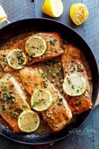 A lightened up, easy Salmon Piccat - 275 Fish Recipes - RecipePin.com