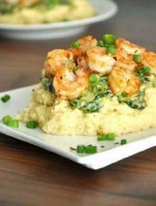 Cheesy Gouda Grits with Savory Spi - 275 Fish Recipes - RecipePin.com