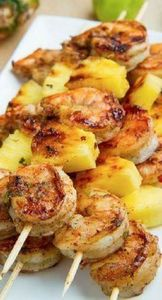 grilled jerk chicken and pineapple - 275 Fish Recipes - RecipePin.com