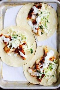 spicy fish tacos with cabbage slaw - 275 Fish Recipes - RecipePin.com