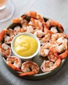 Boiled Shrimp with Spicy Mayonnais - 275 Fish Recipes - RecipePin.com