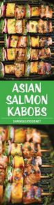 Asian Salmon Kabobs - These salmon - 275 Fish Recipes - RecipePin.com