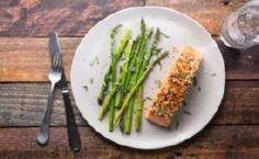 Baked Mustard-Crusted Salmon With  - 275 Fish Recipes - RecipePin.com