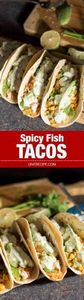Spicy Fish Tacos loaded with corn  - 275 Fish Recipes - RecipePin.com