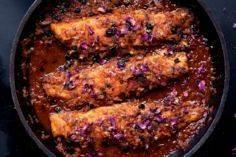 PANFRIED SEA BASS WITH HARISSA &am - 275 Fish Recipes - RecipePin.com